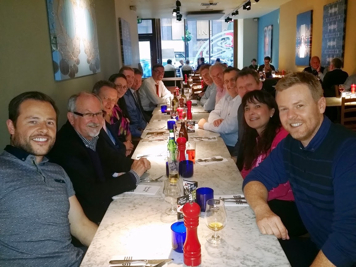 CBC networking group do Pizza Express for 14